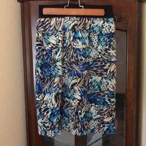 Zippered ruffled skirt